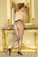 Glimmer Seamed Pantyhose