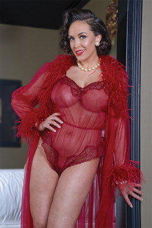 Vivian Sheer Teddy with Lace