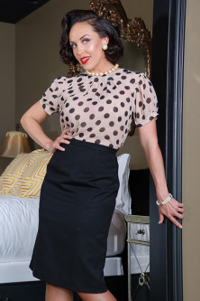 Polka Dot Doormen's Blouse