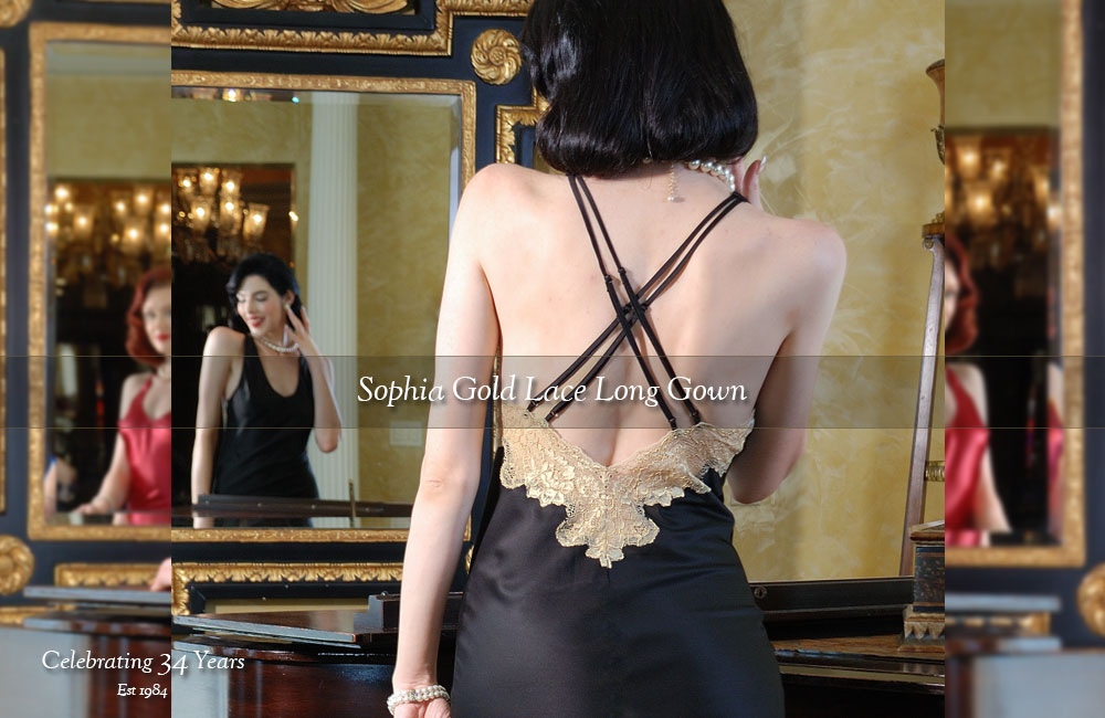 Sophia Gown black back